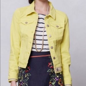 Anthropologie Pilcro Cropped Denim Jacket